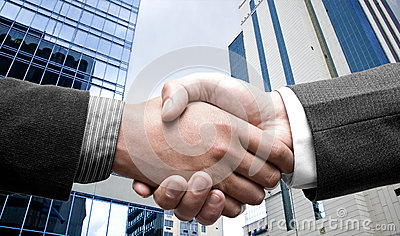 E-commerce hand shake