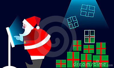E-commerce: Santa Claus Buying on line