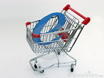 E-Commerce shopping cart (side view) 2 Editorial Photography