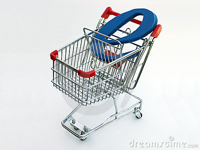 E-Commerce shopping cart (top view)