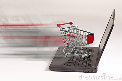 E-commerce shopping concept