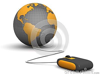 E-commerces concept shopping worldwide