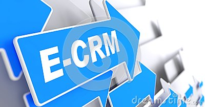 E-CRM. Information Technology Concept.
