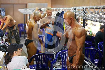 E.Gavrilchenko - bodybuilder on Championship Editorial Stock Photo
