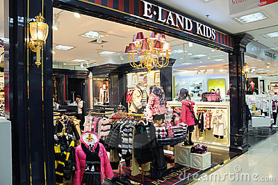 E.land kids shop Editorial Stock Photo