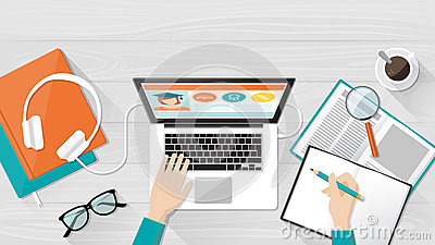 E-learning and education Vector Illustration