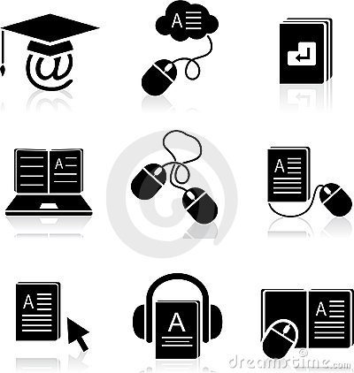 E-learning icons in vector