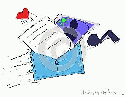 stylized E-mail illustration concept