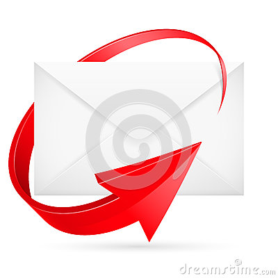 E-mail with arrow