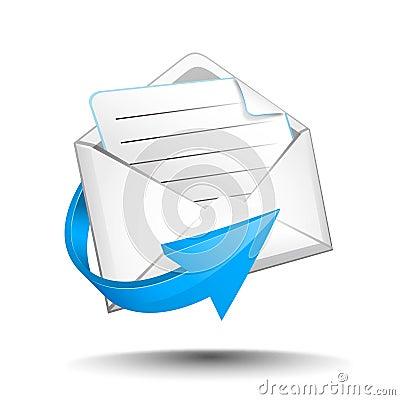 E-mail with arrow