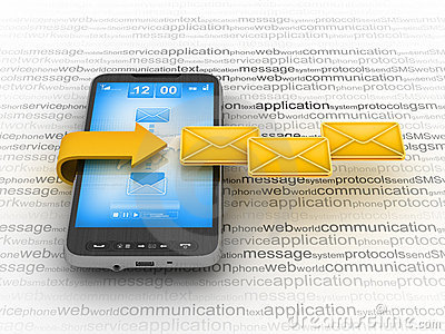 E-mail on cell phone