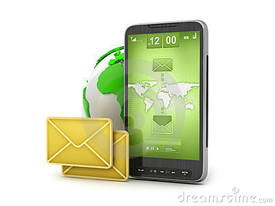 E-mail on cell phone - mobile technology
