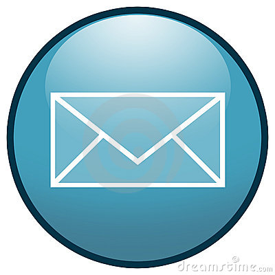 E-mail Envelope Button Icon (Blue)