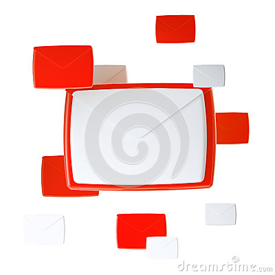 E-mail letter emblem icon isolated