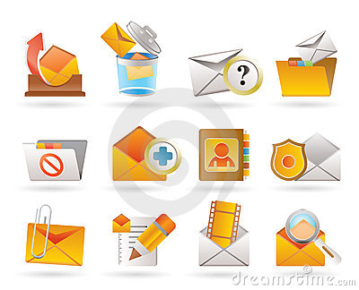E-mail and Message Icons