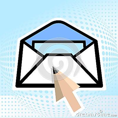 E-mail, pencil
