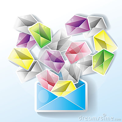 E-mail spreading through network (isolate)