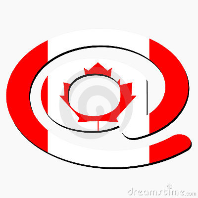 E-mail symbol with Canadian flag