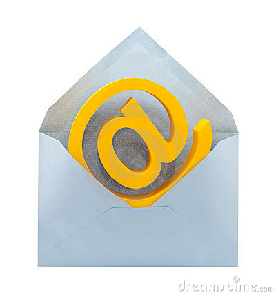 E-mail symbol and envelope