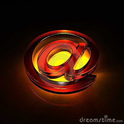 Free E-mail Symbol Glass - Orange Royalty Free Stock Images - 18867659