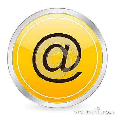E Mail Yellow Circle Icon Royalty Free Stock Photos