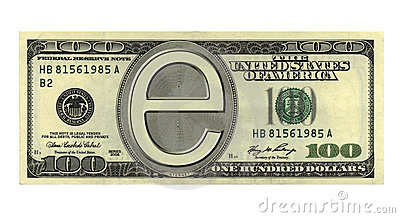 100 bucks as E-money  E Money