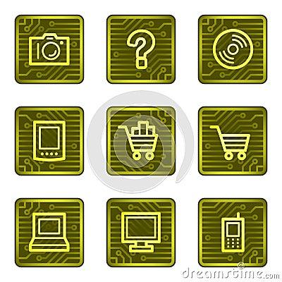 E-shop web icons, electronics card series