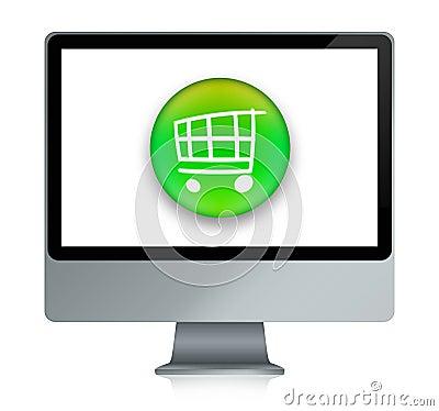 Free E-shopping Cart Stock Image - 10272341