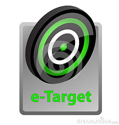 E-target advertisement icon