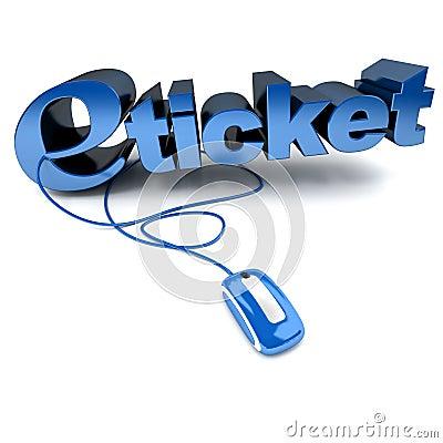 E-ticket in blue