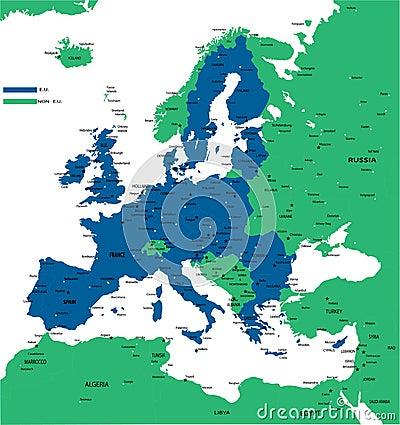 E.U. political map