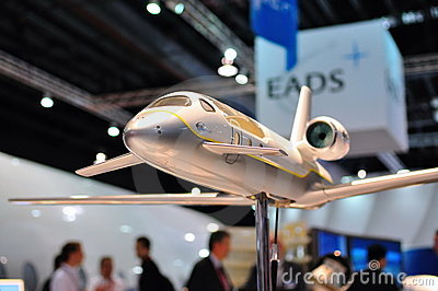 EADS Astrium aircraft model at Singapore Airshow Editorial Stock Photo
