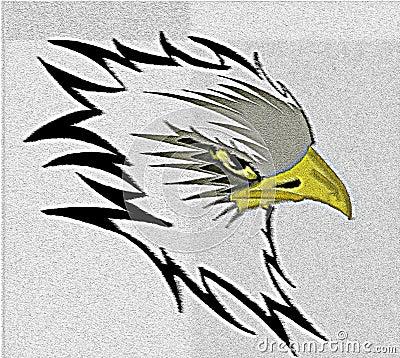 Colorful Artistic eagle illustration