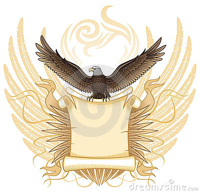 Eagle with Ancient  Scroll