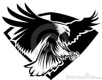 Eagle Badge Mascot Vector Logo