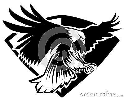 Eagle Badge Mascot Vector Logo