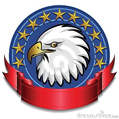 Eagle Banner Red
