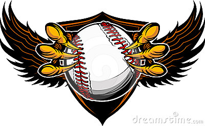 Eagle Baseball Talons and Claws Illustration