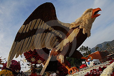 Eagle bird float at the 122nd tournament of roses Editorial Photography
