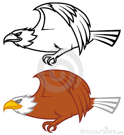 Eagle flying design
