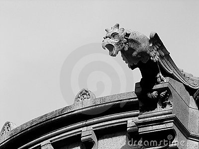 Eagle gargoyle on the Sacre Coeur cathedral, Paris
