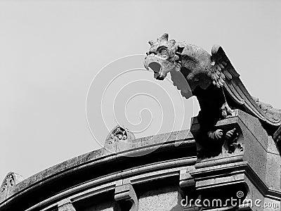 Eagle gargoyle on the Sacre Coeur cathedral, Paris