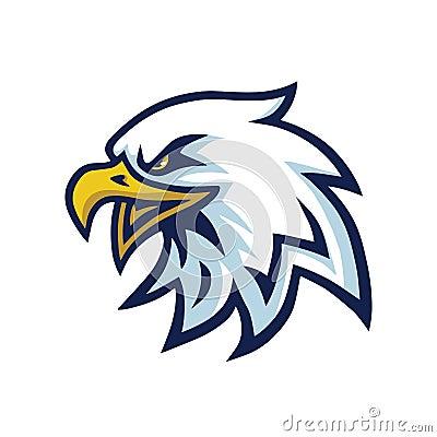 Free Eagle Head Mascot Logo Template Stock Photo - 121612360