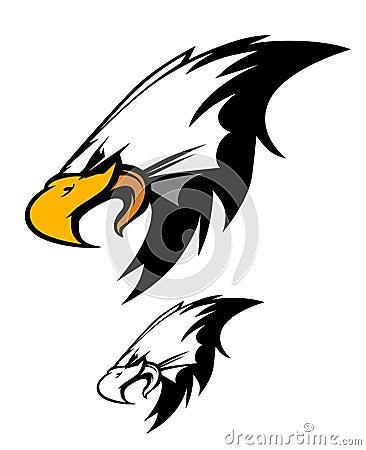 Free Eagle Head Mascot Vector Logo Stock Photos - 17590173