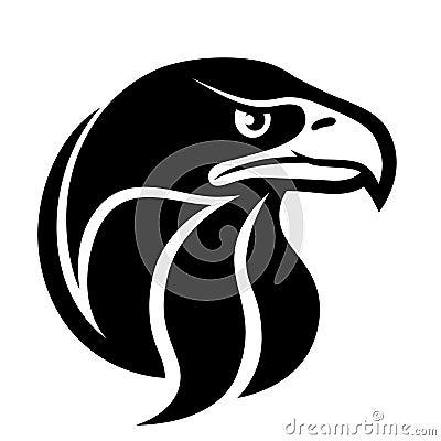 Falcon Head Symbol Stock  Eagle Head Symbol