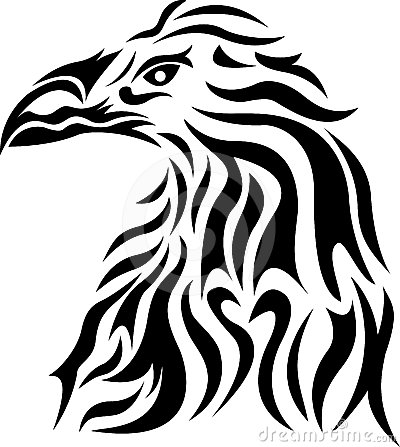 Eagle head tribal