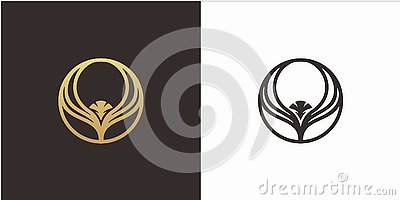 Eagle logo design concept with Luxury style logo template Vector Illustration
