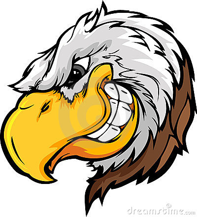 Eagle Mascot Head with Sly Expression