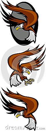 Eagle Mascots Flying
