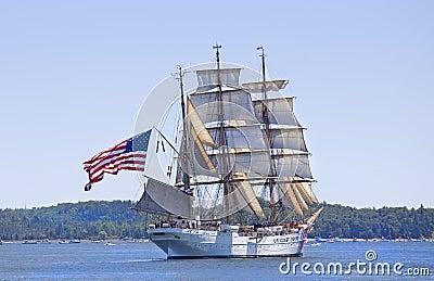 The Eagle - Nova Scotia 2009 Tall Ship Festival Editorial Photography